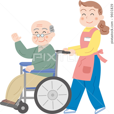 人物 轮椅 看护人