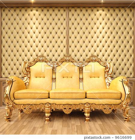沙发木头材质贴图