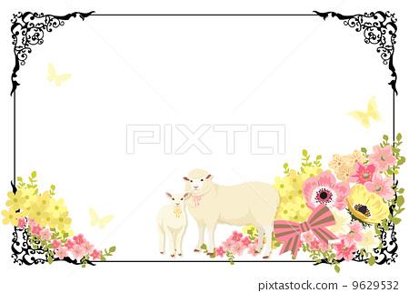 插图: 花朵 白色背景 可爱
