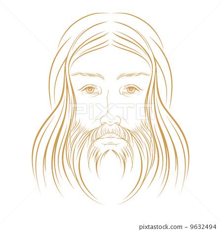 耶稣头像矢量图