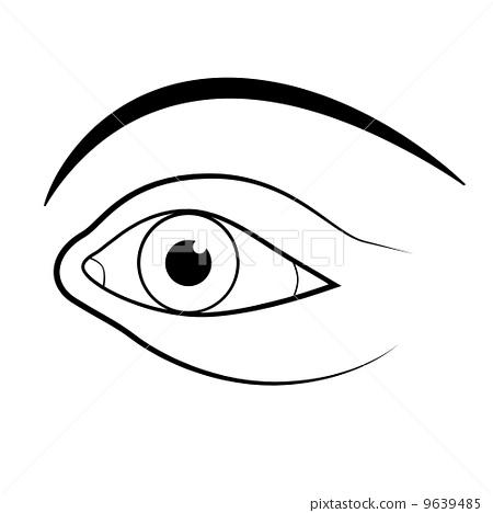 abstract vector human eye illustration 9639485