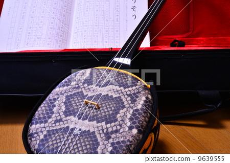 照片 乐器 日本传统乐器 三弦琴 三弦琴 蛇皮 蟒蛇  *pixta限定素材