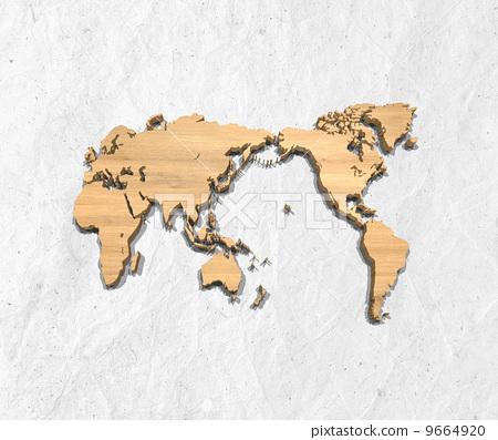 日本纸 轮廓图 空白地图