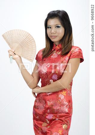 图库照片: chinese girl
