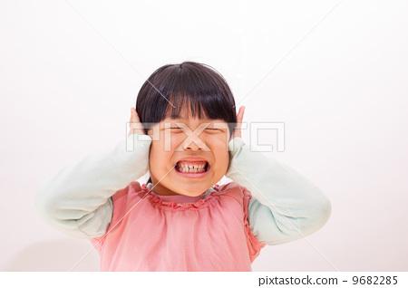 乐趣, 小孩, 可爱, 孩子气的, 五岁的儿童, 噪声, 口头, 嘈杂, 单人