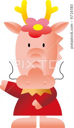 图库插图: 龙 动物 快乐