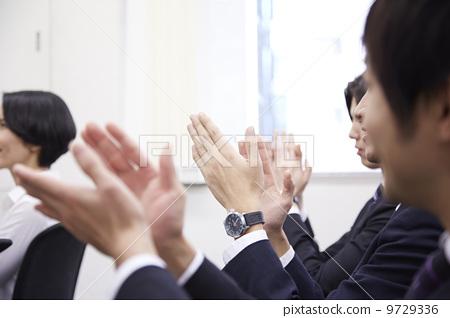 姿势_表情_动作 行为_动作 鼓掌 鼓掌 喝彩 老师  *pixta限定素材仅在
