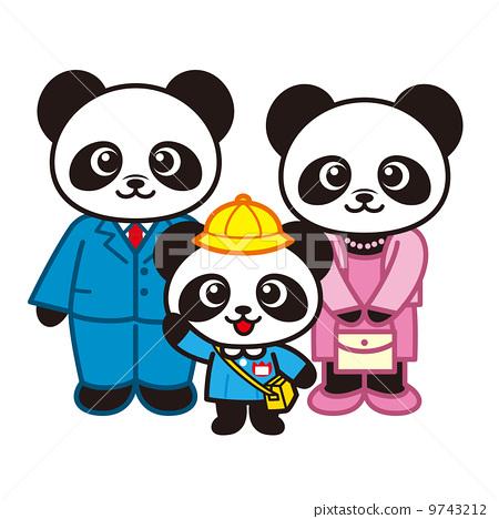 图库插图: 幼儿园入园仪式 矢量 熊猫