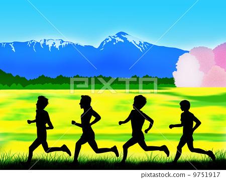 奔跑者 剪影 侧影