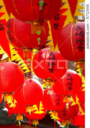 照片素材(图片): 元宵节 长崎元宵节 纸灯笼