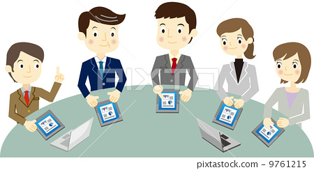 会议商业素材卡通