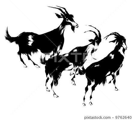 水墨画动物