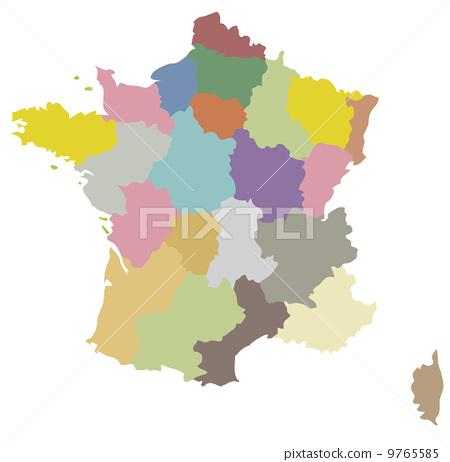 法国 地图 农作