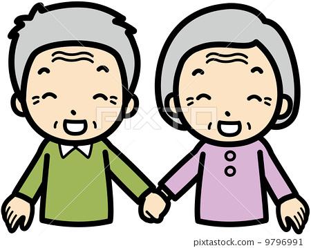 矢量 老人 首页 插图 人物 男女 情侣/夫妻 老年夫妇 矢量 老人图片
