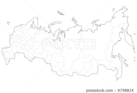 俄罗斯 俄罗斯联邦 轮廓图