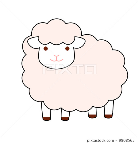 绵羊卡通简笔画