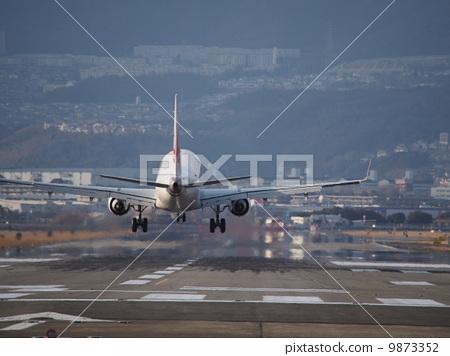 飞机 跑道 日本-图库照片