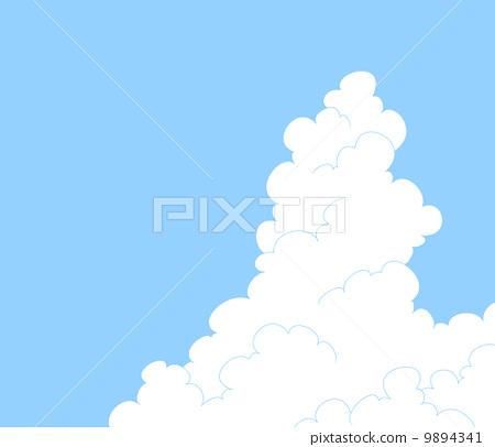 插图素材: 积雨云 空白部分 留白