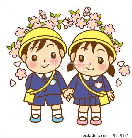 儿童 孩子 樱桃树
