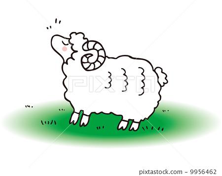 图库插图: 绵羊 动物 简单