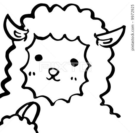绵羊简笔画图片素材