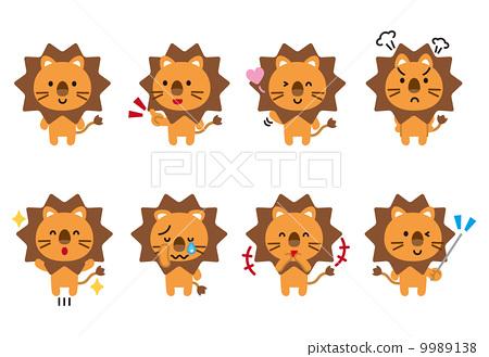图库插图: 狮子兽的动物姿势表情的国王