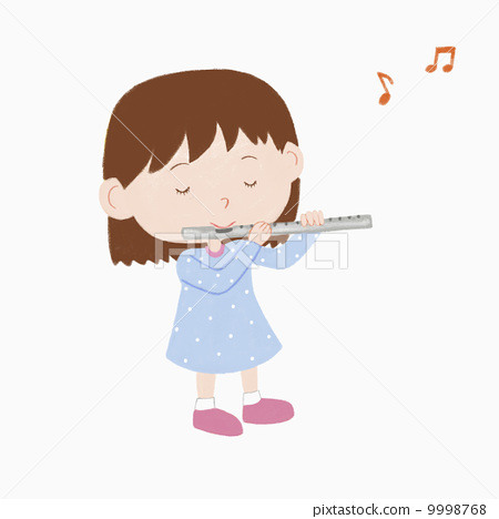 a girl playing flute 9998768