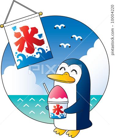 动物_鸟儿 企鹅 插图 刨冰 企鹅 旗帜 首页 插图 动物_鸟儿 企鹅 刨冰