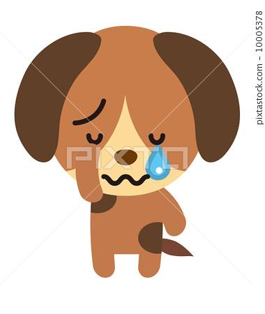 哭泣的动物卡通