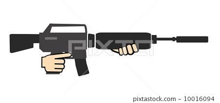 机关枪 手指 图标