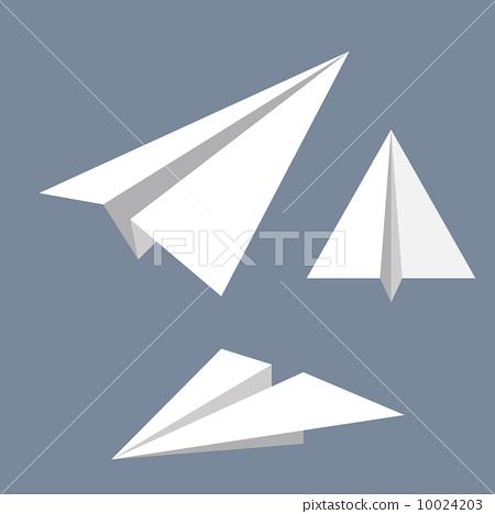 纸飞机 矢量图 stock 插图
