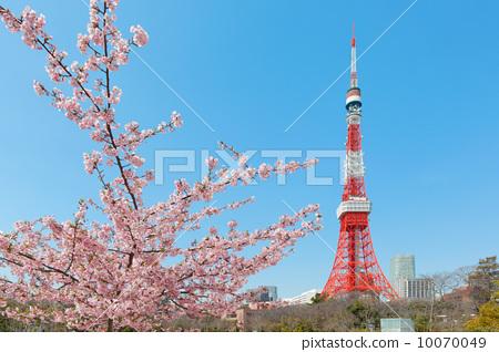 芝公园 东京铁塔-图片素材