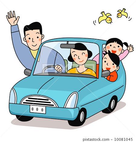 插图 工艺品 家庭 驾车 驾驶 开车  *pixta限定素材仅在pixta网站,或