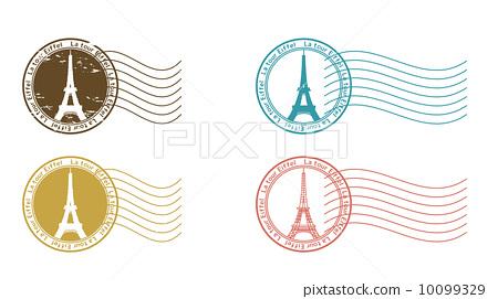 图库插图: 邮戳 矢量 邮票