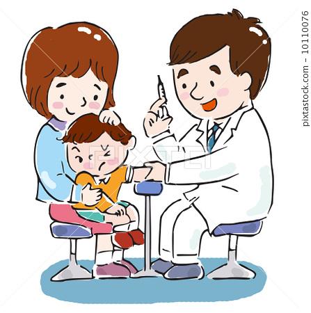 父母和小孩 生病的 生病