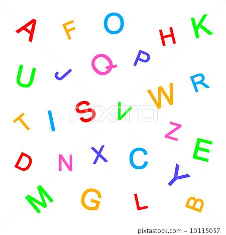 多彩 大写字母 字母
