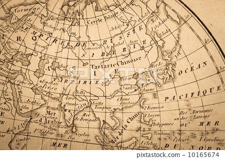 世界地图 古董地图 中东