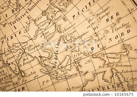 东南亚 古董地图 柬埔寨