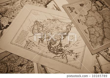 古董地图 世界地图 东南亚