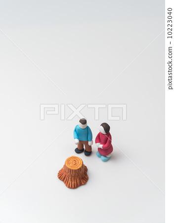 图库照片: 粘土工作 用粘土做东西 烟蒂