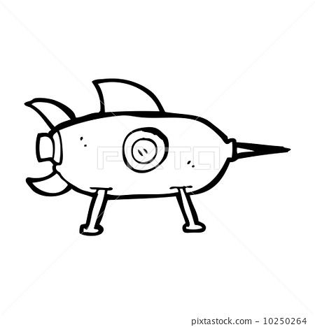 火箭 宇宙飞船 stock 插图