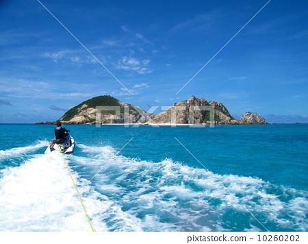 摩托艇 渡嘉敷岛 冲绳
