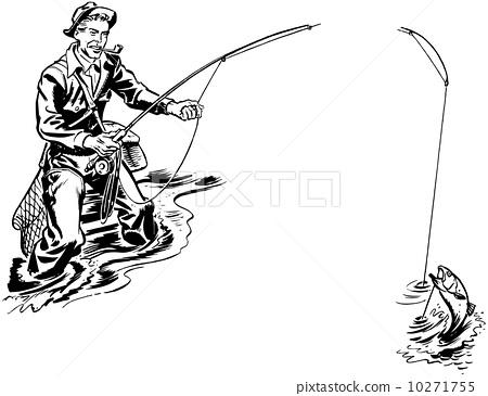 渔民 鱼 stock photos
