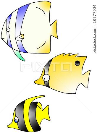 卡通飞鱼简笔画