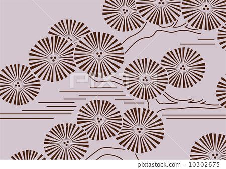 图库插图: 矢量 松树 布料