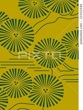 插图素材: 矢量 松树 布料