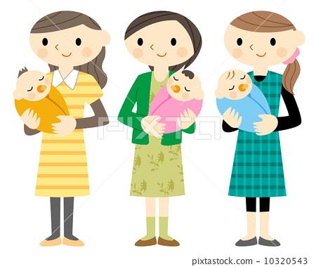 父母和小孩 拥抱 家庭