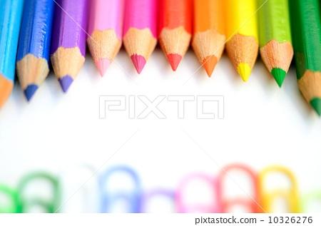 景色 背景 彩色铅笔