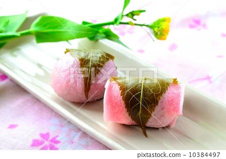 樱花年糕 樱树叶 日本菜肴