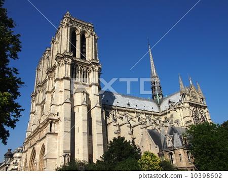 图库照片: 巴黎圣母院 圣母院大教堂 建筑
